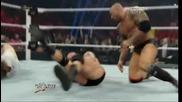 Wwe Даниел Браян атакува трите хикса на 31.03.2014 в Raw