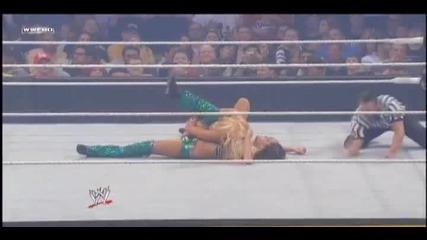 Wwe Money In the Bank 2011 Brie bella Vs Kelly Kelly hd