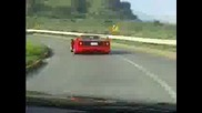 Ferrari F40 Playing With Audi S2