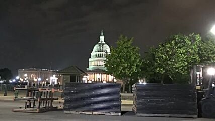 USA: Fence set up around Capitol ahead of 'Justice for J6' rally