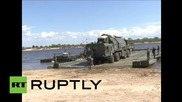 Russia: See Topol-M intercontinental ballistic missile in river crossing drills