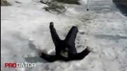 Пиян руснак прави предно салто (смях)