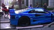 Суперколата Ferrari F40 Lm Blue Chrome