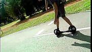 Skatecycle Vs my homemade mini roller.