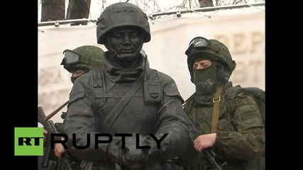 Russia: Crimea's 'Polite People' immortalised in honorary statue