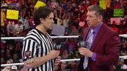 Triple H interrupts Mr. Mcmahon's message for Brad Maddox Raw, August 12, 2013