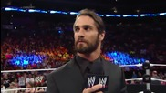 Seth Rollins makes an announcement about Money in The Bank: Wwe Main Event, June 17, 2014