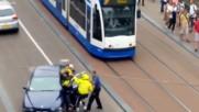 Полиция арестува агресивен шофьор!