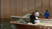 Хюит и Федерер спретнаха тенис мач на моторни лодки