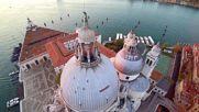"""Базиликата """" Санта Мария дела Салюте"""" във Венеция от птичи поглед"""