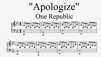 """""""Apologize"""" - One Republic (Piano Cover)"""