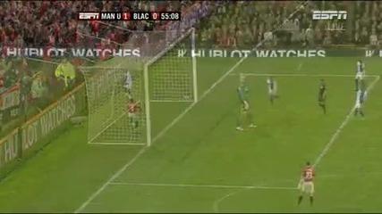 Манчестър Юнайтед - Блекбърн 1:0 Бербатов Гол
