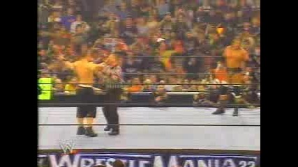 Wrestlemania 22 - Triple H Vs John Cena