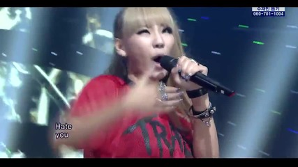 2ne1 - Hate You [comeback Stage][live at S B S Inkigayo]