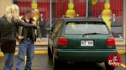 Кражба на автомобил - Скрита камера..