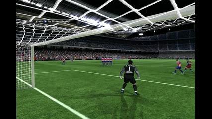 Fifa 11 Гол на Лионел Меси от Пряк свободен удар