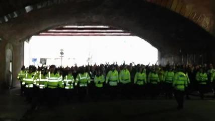 Феновете на Борусия Дортмунд в Манчестър! *03.10.2012г.*