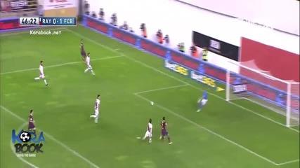 Барселона вкара 4 на Райо, Педро блесна с хеттрик