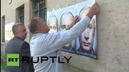 Bosnia and Herzegovina: Putin posters cover Srebrenica and Bratunac
