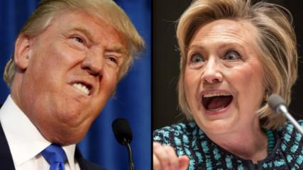 Лудата надпревара между Хилари Клинтън и Доналд Тръмп