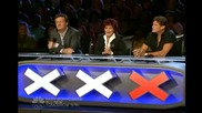 America's Got Talent Most Dangerous Act Amazing Sword Swallower near Disaster - Youtube