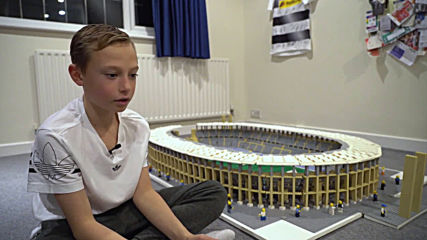 Brick by brick! Joe, 11, painstakingly puts together world's most iconic stadiums with Lego