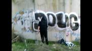 doug is writing graffiti zad kaufland :d