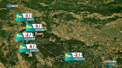 Прогноза за времето на NOVA NEWS (02.03.2021 - 10:00)