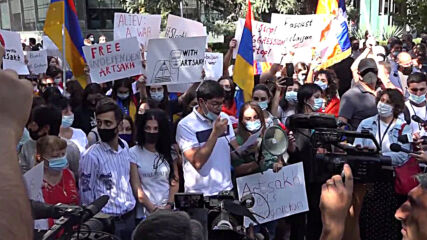 Armenia: Locals rally in front of Yerevan UN office over Nagorno-Karabakh conflict