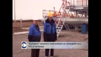 """Булгаргаз"""" предлага поевтиняване на природния газ с 14% от октомври"""