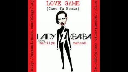 Lady Gaga ft Marilyn Manson - Love Game (chew Fu Remix) New Electro Dance Mix 2009 Hq