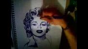 Drawing Maliryn Monroe