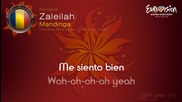 Евровизия 2012 - Румъния   Mandinga - Zaleilah караоке-инструментал
