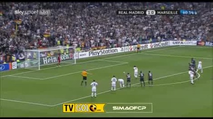 Real Madrid 2 - 0 Marseille Kaka goal