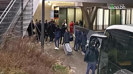 "Лудогорец пристигна на ""Линцер Щадион"" за мача с ЛАСК Линц"
