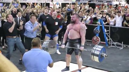 Eddie Hall прави мъртва тяга с 462 кг. - Световен рекорд