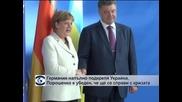 Меркел увери Порошенко в пълната подкрепа на Германия за Украйна