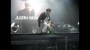 Джъстин Бийбър танцува на песента на Usher - Dj got us falling in love ( London Soundcheck )