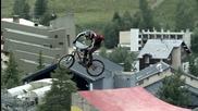Щури каскади с колело, забавен кадър