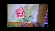 Рисуване на роза /акварел/