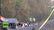 Germany: Clear-up begins after two killed in train crash in Bavaria