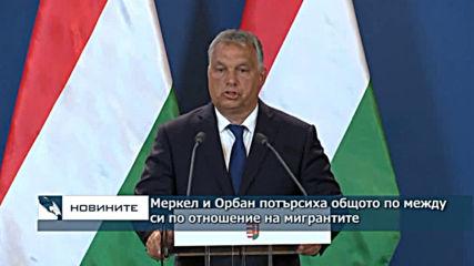 Меркел и Орбан потърсиха общото по между си по отношение на мигрантите