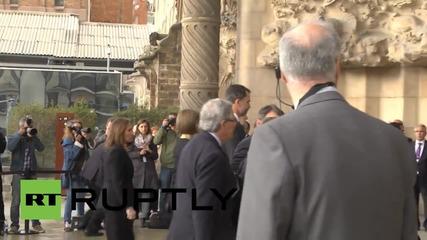 Spain: VIPs attend Germanwings commemoration at Sagrada Familia