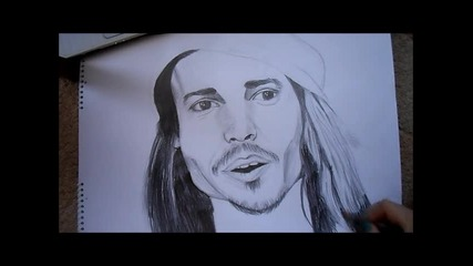 Speed drawing - Johnny Depp