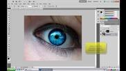Как да изсветлим очи в фотошоп