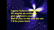 Hero - Sterling Knight (drew Ryan Scott) wlyrics on sreen