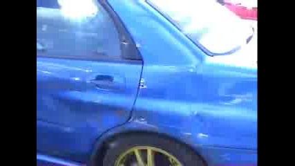 Drift На Subaru Impreza И Удар В Стената