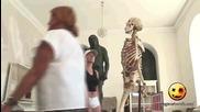 Скелет палавник! Смях,скрита камера!