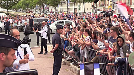 France: Fans cheer on French team outside hotel ahead of WWC Brazil game