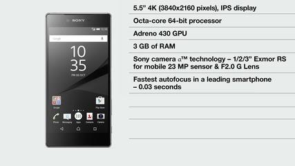 Sony Xperia Z5 Premium: world's first 4k Ultra Hd smartphone